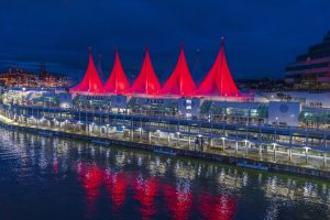 Landmarks nationwide like the Sails of Light at the Port of Vancouver will be illuminated in Red to celebrate 211 Day!