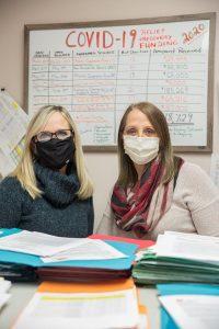 Ellen and Elaine COVID-19 w masks